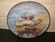 COMICAL CATS   PLATE -  CAT DAY AFTERNOON   -  DANBURY MINT