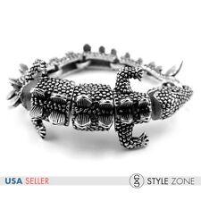 Men's Stainless Steel Gothic Vintage The Lizard Head Full Body Bracelet Cool B69