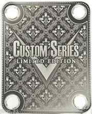 NECK PLATE - Limited Edition - Custom Series - chrome pour guitare et basse -