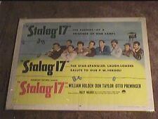 Stalag Seventeen 17 1953 Half Sheet 22X28 Movie Poster William Holden Classic