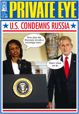 PRIVATE EYE 1217 - 22 Aug - 4 Sep 2008 - Condoleezza Rice George W Bush - U.S. C