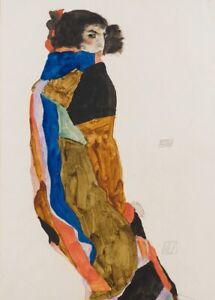 Moa, detail, 1911, EGON SCHIELE Expressionism Vienna Secession Poster