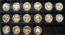 COMPLETE Star Trek LAS VEGAS CONVENTION GOLD 16 COIN Set ~ Creation