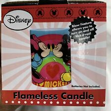 Disney's Mickey and Minnie Mouse Love and Kisses Square Flameless Candle New!