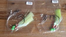 2 X SNAPPER FLASHER 2 X HOOK FISHING RIGS 60lb MONO 5/0 CIRCLE HOOKS & LUMO