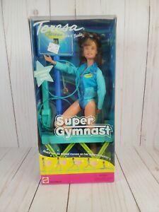 NIB 2001 Mattel Teresa Friend of Barbie 'Super Gymnast' Scoreboard Really Works!