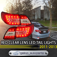 Red Clear LED Tail Lamps Fit Toyota Corolla ZRE152 2011-2013 Rear LH+RH Light