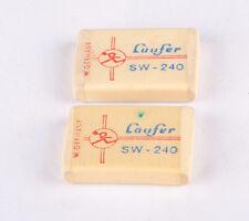 Vintage Laufer SW-240 Pencil Erasers  x  2