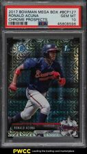 2017 Bowman Chrome Mega Box Ronald Acuna Jr. ROOKIE RC #BCP127 PSA 10 GEM MINT