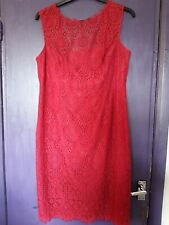 MONSOON DEEP PINK LACE PENCIL DRESS SIZE 18