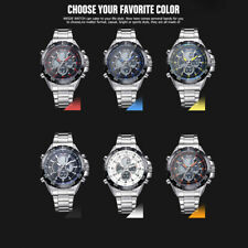 WEIDE WH1103 Dual Display Quartz Men Watch Alarm Stopwatch Wristwatch B7U4