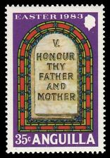 """ANGUILLA 530 (SG553) - Ten Commandments"""" Honour thy Father and Mother"""" (pf60029)"""