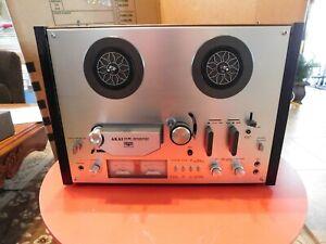 Akai GX-4000D Reel-to-Reel Tape Deck Machine Player Recorder Works 1 Owner!!
