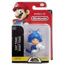 """World of Nintendo Super Mario Cat Toad 2.5"""" Collectible Action Figures"""