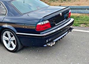 M Sport Rear bumper skirt lower diffuser with fins ribs SHARK For BMW E38