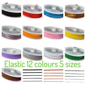Round Nylon Cord Elastic -0.8mm, 1mm, 1.5mm, 2mm, 2.8mm -Jewellery / Beading