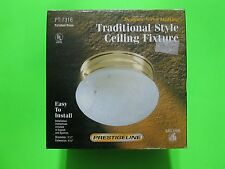 Prestigeline Frosted Glass and Brass Ceiling Fixture Light >>> NEW <<<
