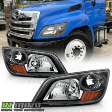 2006-2014 Hino 268 338 258LP 06-10 145 165 Black Headlights Headlamps Assembly