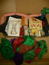 Vintage Magic Set with Tricks - Silk Hanky / Wand / String of Sausages /Gamages