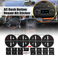 AC Button Dash Repair Kit Decal Sticker for Buick Chevy GMC Chevrolet Saturn PVC