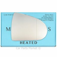 Right Driver side Wide Angle Wing mirror glass for Mitsubishi Colt 04-12 Heated