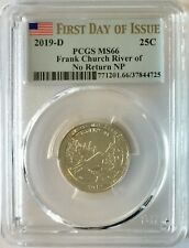 PCGS MS66 2019 D Frank Church River Of No Return NP Quarter ~ FIRST DAY OF ISSUE