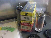 ((2)) SYLVANIA / PHILCO 12ED5 Vacuum Tube NOS