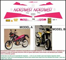 kit adesivi stickers compatibili nordwest 350 600 1991-1992