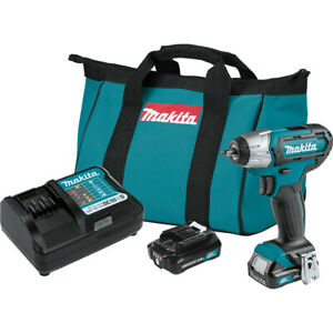 "Makita WT04R1 12V max CXT? Lithium-Ion Cordless 1/4"" Impact Wrench Kit (2.0Ah)"