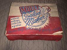 Vintage Mouli Salad Maker 5 Blades In Original Box Slice Chop Grates Aluminum