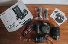 Canon EOS 60D 18MP DSLR camera KIT-EF-S è 18-135mm. lente dell'otturatore bassa count!