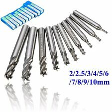 10Pcs 4 flute carbide end mill cnc routeur outils 2-10mm dia fraise (27)