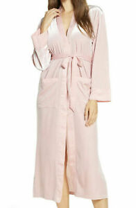 New Nordstrom Women's Velour Robe, Pink Size Large L