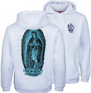 SANTA CRUZ - Jason Jessee Guadalupe Hood - Skateboard Hoodie - White - Medium