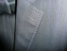 NEW $3000 DOLCE & GABBANA Suit 38 R ITALY Dark Stripe 100% wool hand finished 48