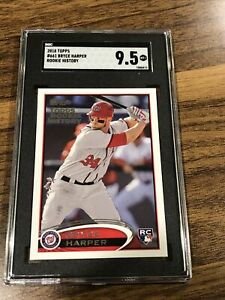2018 Topps Rookie History Bryce Harper SGC 9.5. Washington Nationals (Not A RC)