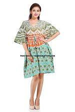 Indian Ombre Mandala Cover Up / Kaftan Top / Mini Dress Plus & Std Size (10-26)
