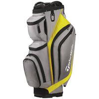 New 2017 Taylormade Supreme Cart Golf Bag - Gray / Yellow - 14way Top