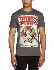 Mens 100 Cotton Grey T Shirt Tee Retro Match of The Day Work Vintage T-shirt M