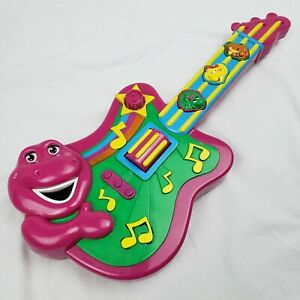 2007 JAKKS Barney the Purple Dinosaur Musical Guitar Toy Music Instrument WORKS