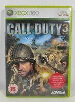 Call of Duty 3 Xbox 360 Game Near Mint Condition Complete PAL UK Fast Free P&P