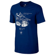 NIKE Tri-Blend Huarache Sketch T-Shirt sz S Small Navy Blue Elite Tinker 89