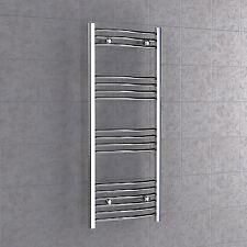 Chrome Curved Towel Radiator 600mm x 800mm Bathroom Rail Heated 60 x 80cm