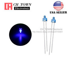 100pcs 2mm Diffused LED Diodes Blue Color Blue Light DIP Round Top USA