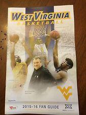 West Virginia Mountaineers Wvu 2015 16 Basketball Fan Guide Media Guide