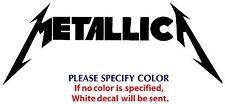 "Metallica Metal Rock Graphic Die Cut decal sticker Car Truck Boat Window 12"""