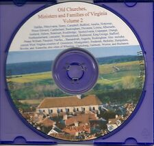 Old Families and Churches of Va Vol. 2  - Genealogy