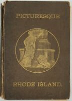 Picturesque Rhode Island by Wilfred H. Munro Fair Cond 1881 Hardcover MAPS & Ads