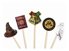 Coco&Bo 10 x Hogwarts Party Cupcake Toppers - Harry Potter Theme Cake Decoration