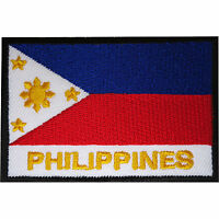 Philippines Flag Patch Embroidered Iron Sew On Clothes Filipino Badge Applique